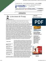 La Lecciones de Trump_ Arturo Romero