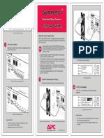 APC Symmetra Battery Frame Startup Guide