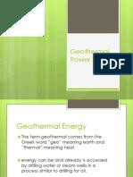 Module 7 - Geothermal Power Plant