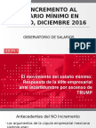 Salario Mínimo-Aumento 5 Dic16 Conferencia de Prensa