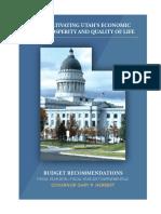 FY 2018 Gov. Gary Herbert's Budget Recommendations