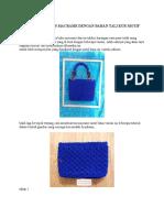 Cara Membuat Tas Macrame Dengan Bahan Tali Kur Motif Daun Variasi