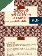 Aspectos Eticos y Sociales en La Empresa Digital