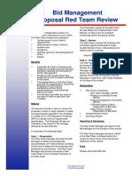 7.2.3 - Bid Management Proposal Red Team Review