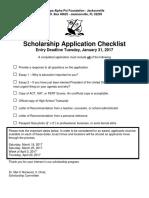2017 KAPsi Foundation-Jacksonville Scholarship Application Package Complete
