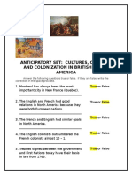 cultures conflict and colonizaton in bna anticipatory set