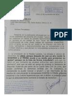 Carta Notorial de la Jueza Malbina Saldaña