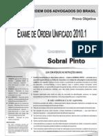 Exame OAB 2010-1 Prova Objetiva - Caderno de Questões - Sobral Pinto