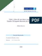 Vida y Obra de Un Claro Vascon de Toledo El Legado Literario de Felix Urabayen 0