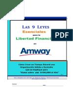 9 Leyes Esenciales Para La Libertad Financiera en Amway