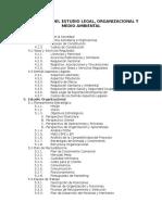 Estructura Del Estudio Legal y Ambiental