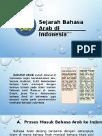 Sejarah Bahasa Arab Di Indonesia