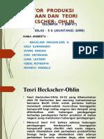 FAKTOR  PRODUKSI  BAWAAN DAN  TEORI  HECKSCHER- OHLIN