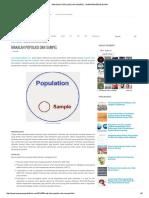 Makalah Populasi Dan Sampel - Wawasanpendidikan