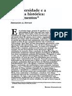 A Universidade e a Pesquisa Histórica Fernando Novais