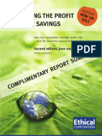 Ethical Corporation Report Summary - Water Savings 2nd Ed 2010
