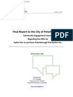 Final report on PDI sale community engagement process