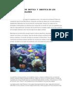 Interaccion Biotica y Abiotica de Los Arrecifes Colarinos