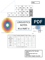 Titlw Page Linguistics