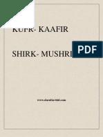 One who commits kufr is a kaafir