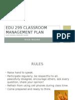 edu 299 classroom managment