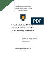 Aplicación de La Ley 19.253 en Materia de Contratos