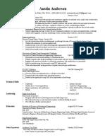 austin resume fall 2016