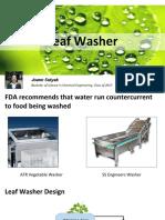 leaf washer presentation