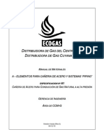 A1 - Cañería de Acero Para Conduccion de Gas Natural