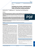 Effects of Fermentation by Lactic Acid Bacteria