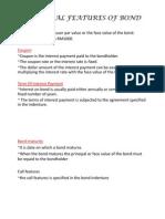 Essential Features of Bond