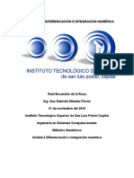 Investigación Diferenciación e Integración Numérica - Raúl Escandón de La Rosa