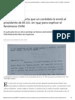 La Desopilante Carta Que Un Cordobés Le Envió Al Presidente de EE.uu. en 1947 Para Explicar El Fenómeno OVNI - 07.12
