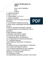 A Critical Analysis of Education in Pakistan Outline (1)