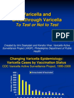 Varicella and Breakthrough Varicella