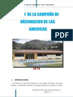 Plan de Vacunacion de Las Americas