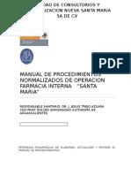 Manual de Procedimientos Normalizados de Operacion Farmacia Interna
