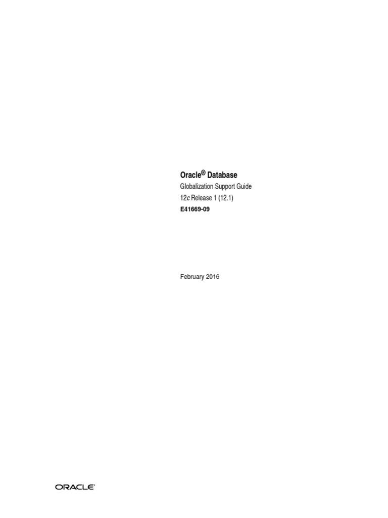 Oracle Database 12c Globalization Support Guide   Sql   Pl/Sql