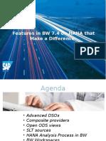 SAP BI 7.4 New Faetures