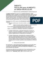 0- Entrenamiento Cardiovascular-Aumento Masa USFS Mintxo Lasaosa