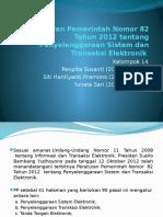 peraturan pemerintah no. 82 tahun 2012