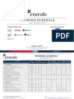 Training Schedule Inixindo JKT S2 2016