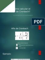 Como calcular el Alfa de Cronbach