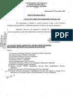 Amemdment in Civil Servants Rules 1993 29 Nov 2016