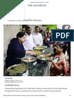 Popular Leader, Populist Schemes - The Hindu