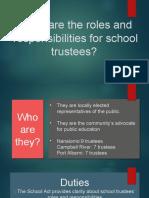 the roles of school trustees