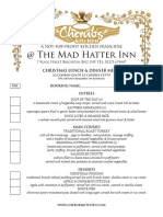 Hatter Christmas Party Menu 2016