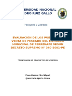 EVALUACIÓN DE LOS PUESTOS DE VENTA DE PESCADO DEL MERCADO MUNICIPAL DE FERREÑAFE SEGÚN DECRETO SUPREMO N° 040-2001-PE