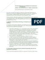 Guidelines on the Registration of Information Technology Parks and Centers
