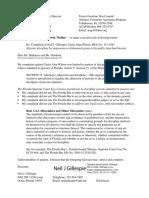 Wilson Complaint File No. RFA No. 15-13443 - Brewer Notice